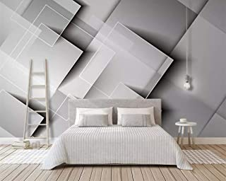 Geometric Gradient Square Wallpaper Three-Dimensional Gray Bedroom TV Background Wall Home Decoration 3D Wallpaper