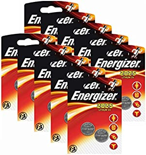 20 x Energizer CR2025 Coin Battery Batteries Lithium 3V for Watches Torches Keys