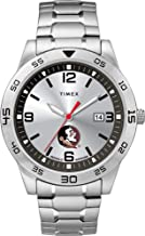 Timex Men's Brushed Steel Band Watch with Seminole Head by