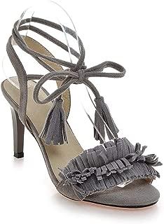 Surprise S Big Size High Heels Sandal Sexy Lace Up Tassel Women Sandal Open Toe Summer Shoes