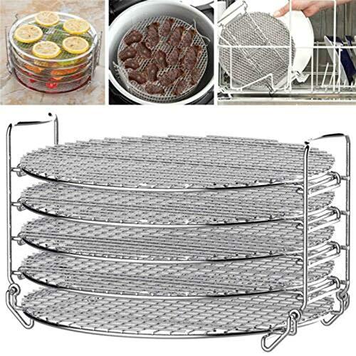 Keepbest 5 lagen RVS BBQ Rack Skewer Grill Bakplaat Rack voor Air Fryer 8qt Pot