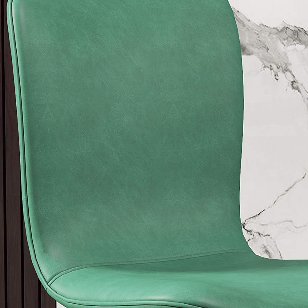 YYWDP Chaises De Cuisine Modernes en Similicuir avec des Pieds en Métal pour Le Dossier Chaises De Salon pour Les Repas À Domicile Salon Salon Réception De Bureau (Brun),P B