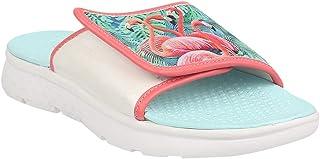 KazarMax Unisex Navy Fashion Memory Foam Sliders, Flip Flops