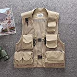 Chaleco Pesca Outdoor Men's Fly Fishing Vest Multi-Pocket Breathable Mesh...