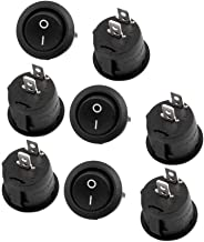 RuoFeng 2-Pin Snap-In Round Rocker Latching ON/OFF Car/Boat Switch 10A/125V, 6A/250V Black Pack of 10