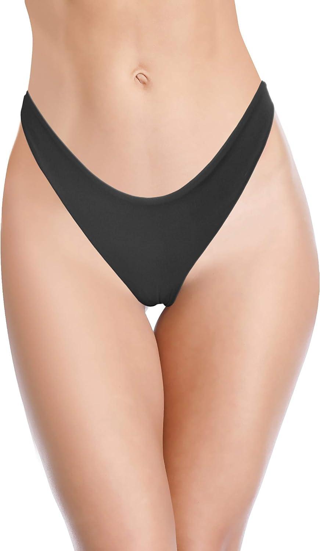 SHEKINI Women's Sexy Thong Bikini Bottom Cheeky Brazilian U Cut Swim Bottom