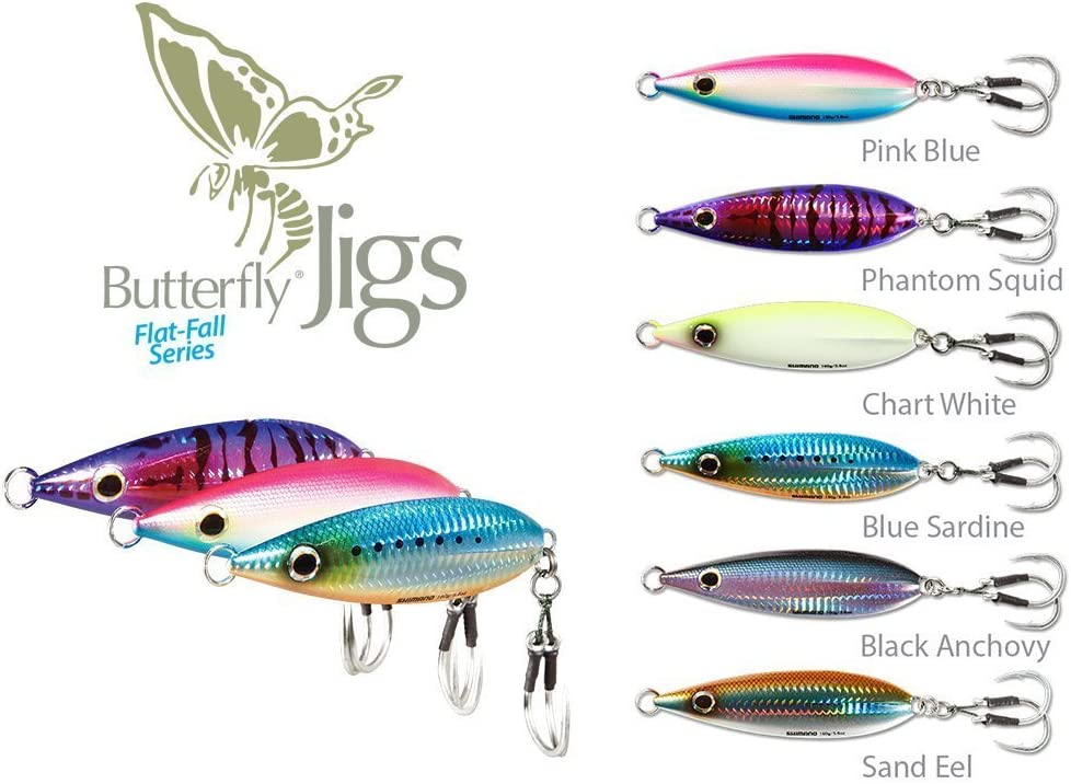 Max 47% OFF SHIMANO Butterfly Bargain sale Flat-Fall Jigs- of Pack 2