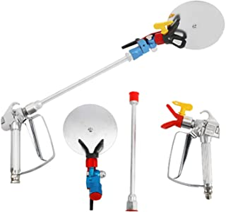 """YaeMarine Airless Paint Spray Gun with Spray Guide Accessory Tools, 3600 PSI Reversible 517 Tip and Tip Guard, 12"""" Extensi..."""