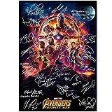 Suuyar Infinity War Firma película Arte decoración de la Pared póster con impresión de Seda Impresiones en HD póster para el hogar Lienzo -50x70cmx1pcs -sin Marco