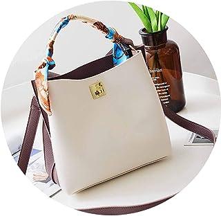 女の人のハンドバッグレザートートフリンジショルダーバッグクロ スリングのハンドバッグ,白,23cm