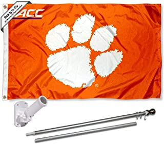 Clemson Tigers Acc Flag with Pole and Bracket Kit
