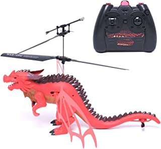 bangcool RC Helicopter, Christmas Dinosaur Toys Helicopter for Kids Adult Indoor Outdoor Infrared Helicopter Toy Gift Helicopter