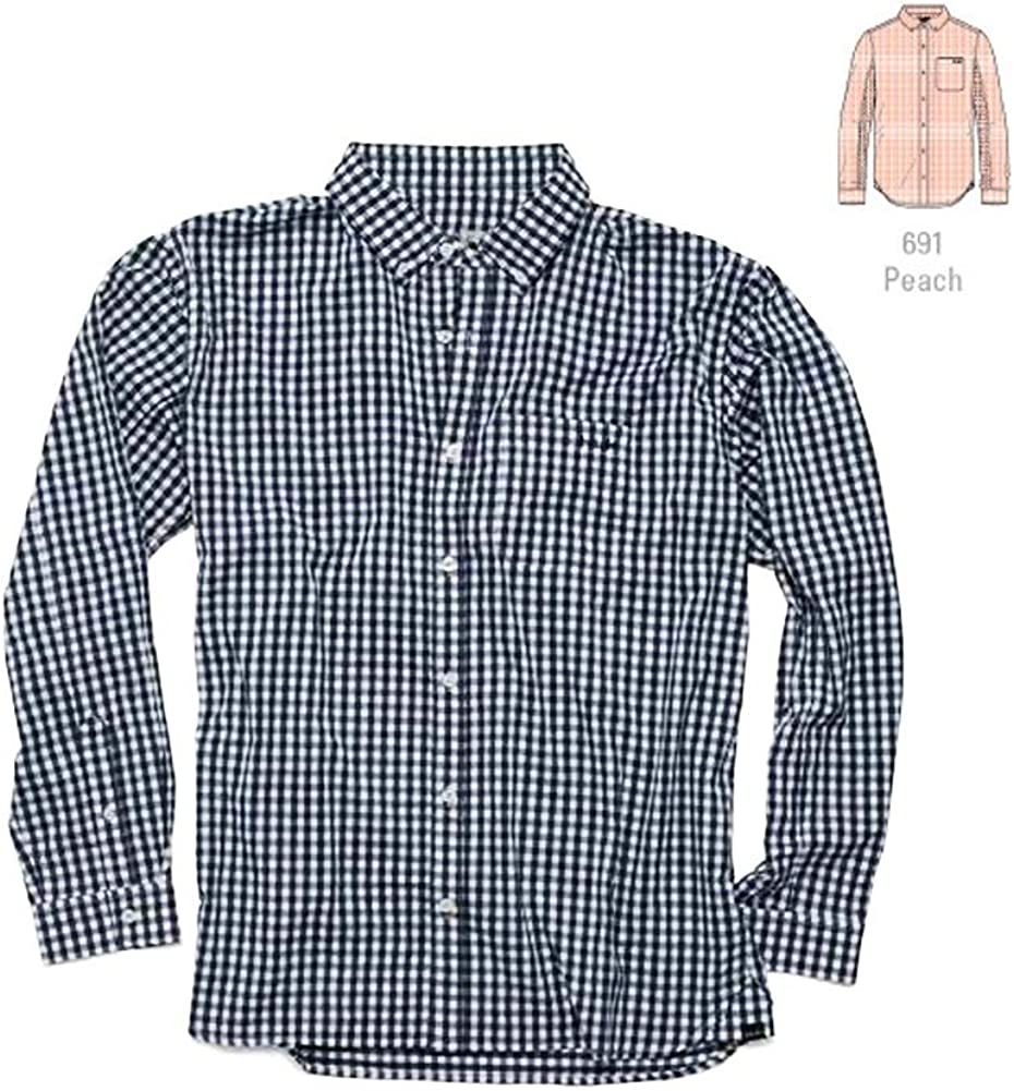 HUK Men's Gingham Long Sleeve Button with Shirt Prot Fishing Sun Baltimore Mall Brand new