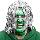 Brybelly MPHT-101 Tinsel Wigs - Silver, Pack of 6