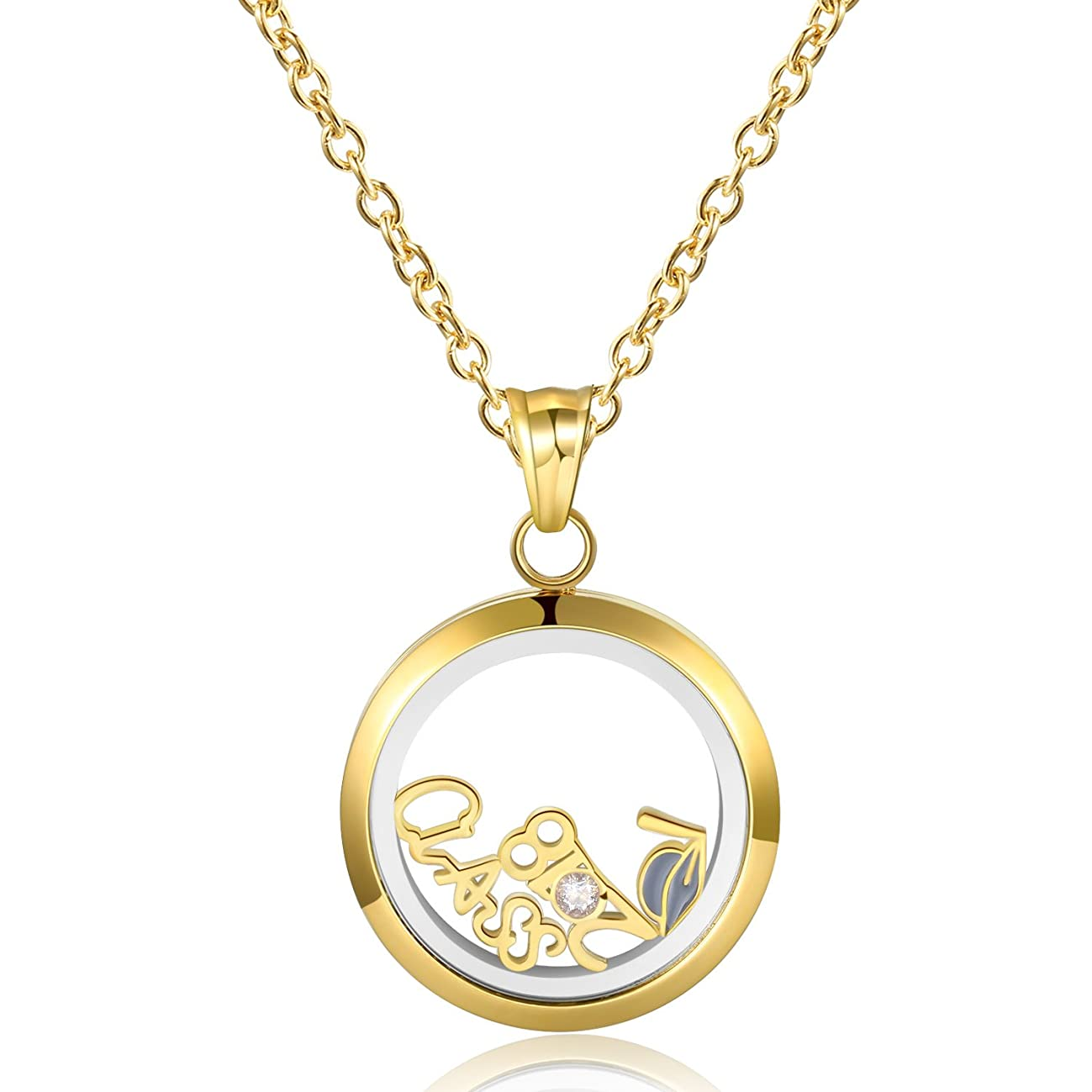 Gold Graduate Locket Necklace