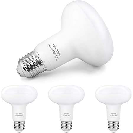 8 Pack BR30 Flood Light Bulbs Indoor Outdoor by Bioluz LED Instant ON DIMMABLE Soft White 3000K 65-95 Watt Replacement Using 9.5 Watts 92 CRI UL Listed 2016 Title 20 High Efficacy Lighting