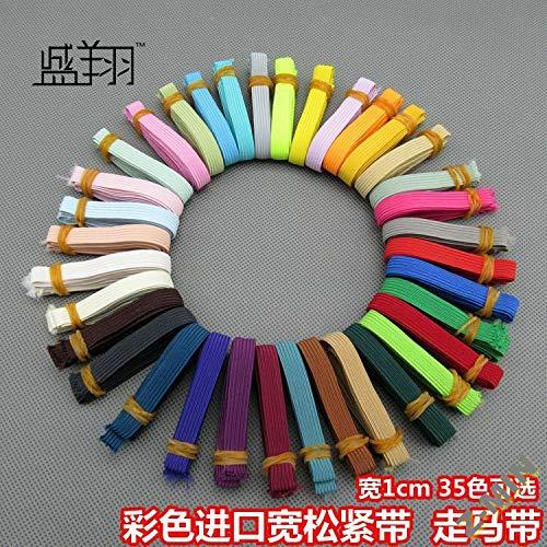 Z-MIN Seidenfarbe Dünner und breiter elastischer Verband 1 cm breites elastisches Band Elastisches Zubehör 100 Yards/Rolle, leichtes Reismehl