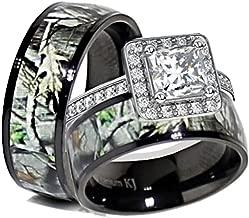 Amazon Com Camo Wedding Ring Sets