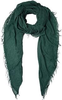 Chan Luu Trekking Green Cashmere And Silk Scarf Shawl Wrap