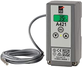 Johnson Controls A421ABC-02C A421 Series Electronic Temperature Control, -40 to 212 Degree F Temperature Range, Single-Pole, Double-Throw