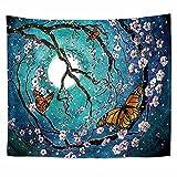 Tapiz de estilo nórdico mandala para salón, decoración personalizada, tapiz de hall dormitorio decoración de pared interior cielo estrellado flor mandala