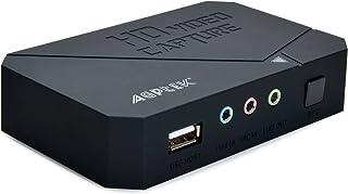 AGPTEK 【進化版】ゲームキャプチャー*ゲームレコーダー HDMI/YPBPR入力 1080p対応小型ビデオキャプチャーデバイス 実況音声の追加や編集!「日本語取扱説明書付き」VG0020