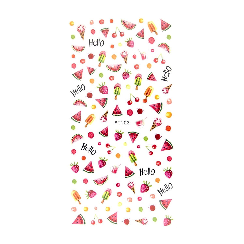レスリング有名な色合いirogel イロジェル フルーツ 果物 パラダイス シール ネイルシール【MT102】