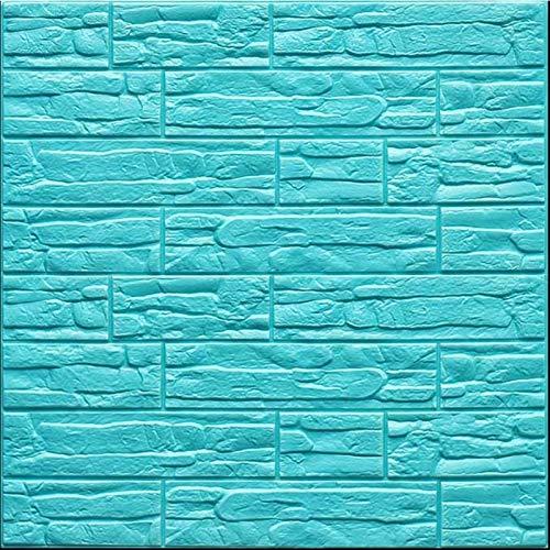 Piedra de Ladrillo Paneles de Pared Autoadhesivos Autoadhesivo Pegatinas de Pared Home-Decor-Products, 3D Wall Srickers para Dormitorio Cocina Sala de Estar Baño Decoración Interior Pared decoración