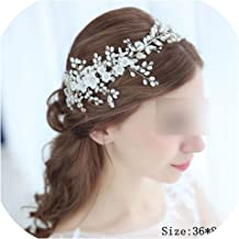 Rhinestone Crystal Headbands Wedding Hair Accessories Bridal Pearl Headband Pearl Hair Band Handmade Bridal Head Jewelry,FD627