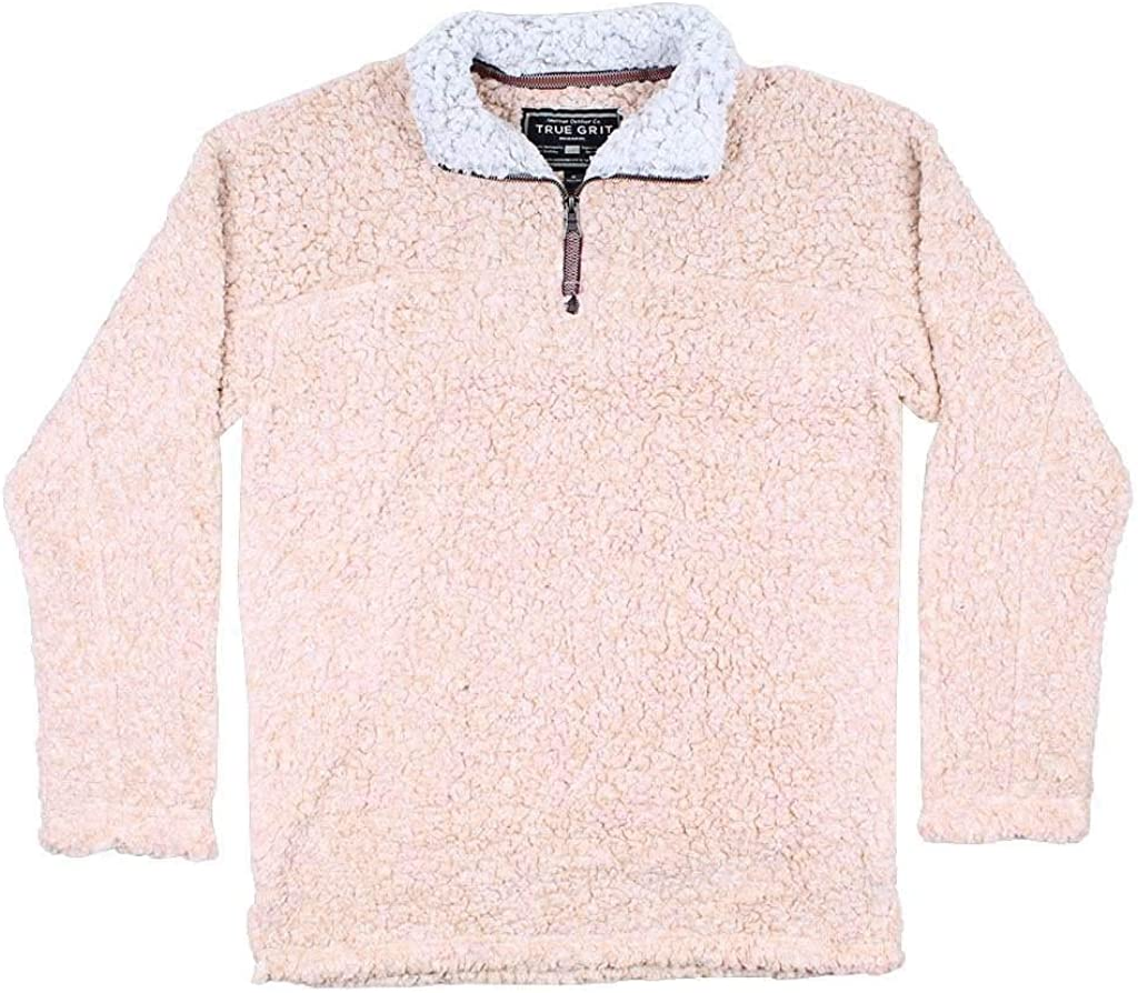 True Grit Softest Tip Shearling 1/4 Zip Pullover in Shearling