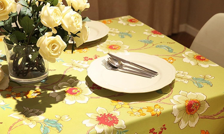 Tischdecke, Baumwoll-Leinen Moderne, einfache Art Aktiver Druck-Kaffeetisch Speisen HitzeBesteändiges Tischtuch-Rechteck ( größe   140x200cm ) B074WMFRC3 Sonderangebot | Economy