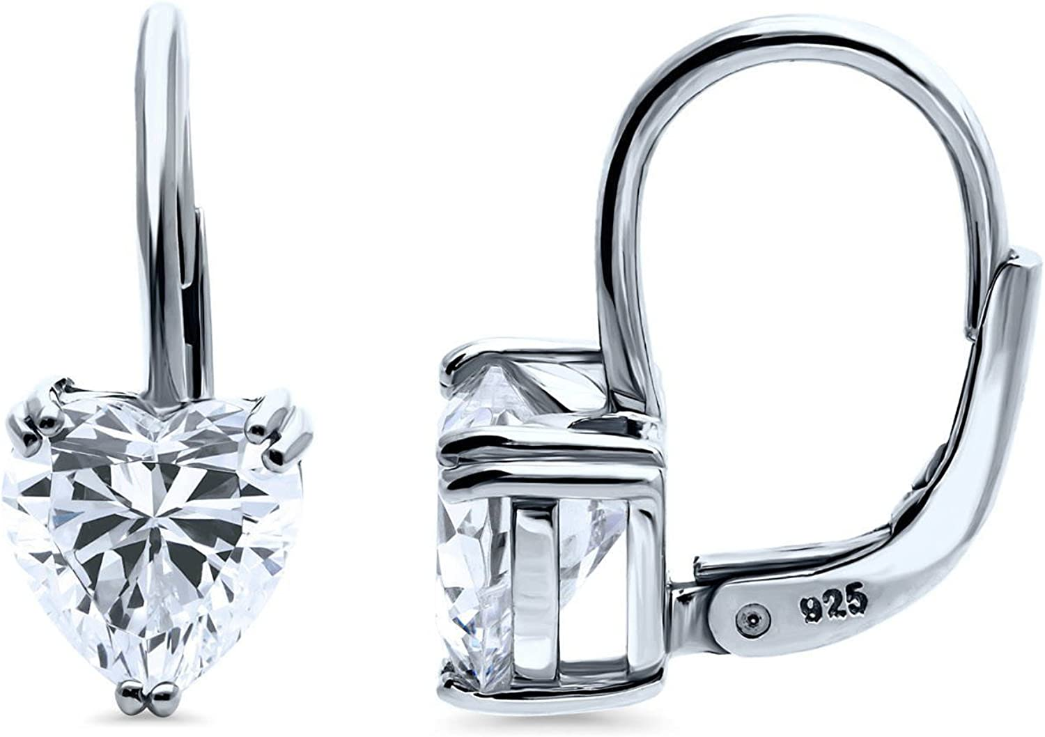 BERRICLE Rhodium Plated Sterling Silver Cubic Zirconia CZ Solita