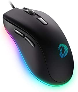 DAREU Wired Gaming Mouse 6 Programmable Buttons 6400 DPI Adjustable 16.8 Million Chroma RGB Backlit Comfortable Grip Ergon...