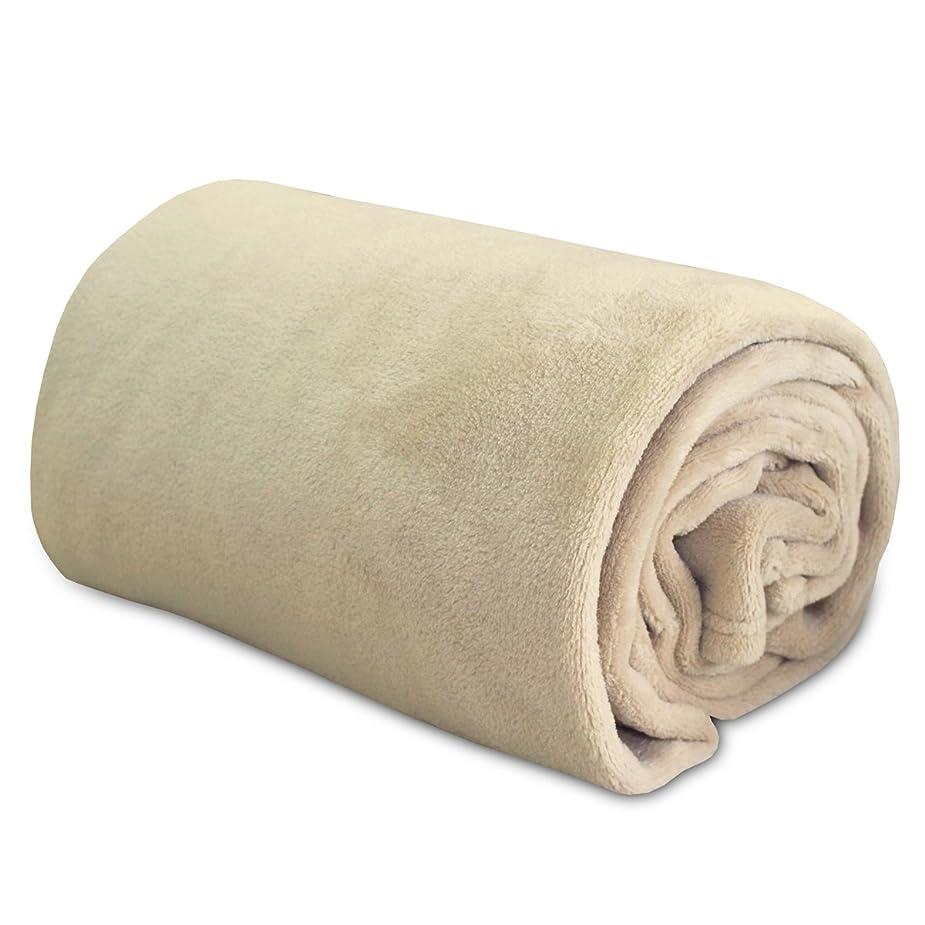 報奨金素晴らしい良い多くの剥離ふんわり やわらか マイクロ ファイバー 毛布 ダブルサイズ アイボリー 軽量タイプ(180x200cm)