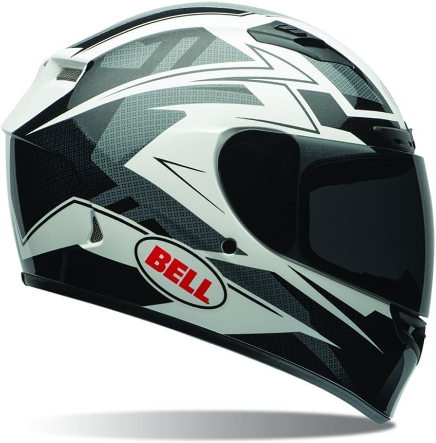 Bell Powersports Qualifier Dlx Motorradhelm Mehrfarbig Rally Matte Schwarz Weiß S Auto