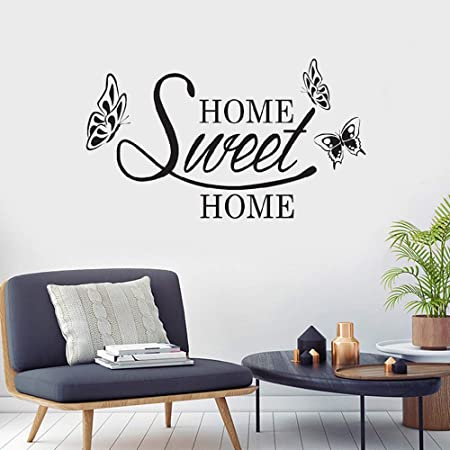 /'Home Sweet Home/' Large Vinyl Wall Stickers Amazing Decal Decor high quality UK