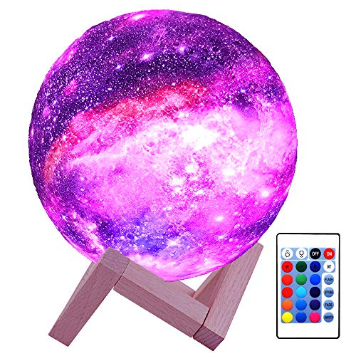 HYODREAM 3D Moon Lamp for Kids with Galaxy Lamp 16 Colors