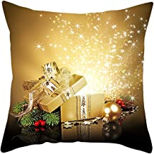 Snowlike Christmas Decoration,Christmas Pillow Case Glitter Polyester Sofa Cartoon Christmas Theme Party Pillow Covers