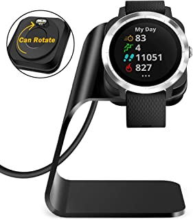 QIBOX Compatible with Garmin Vivoactive 3 Charger, Vivoactive 3 Charging Cable Stand Accessories Replacement USB Power Adaptor Cord for Vivoactive 3 Smartwatch (ONLY for Vivoactive 3 Smartwatch)