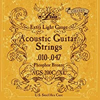 【12セット】ARIA/アリア AGS-200C/XL [10-47] アコースティックギター用 コーティング弦