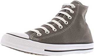 Converse Unisex-Adult Mens Chuck Taylor All Star Canvas High Top Grey Size: 10 M US Women / 8 M US Men
