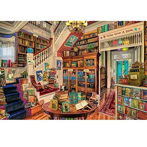 Puzzels Retro boekenplank - voor volwassenen en kinderen, Woodens speelgoed Beste kleur Uitdagende spellen ndash Moeilijk spel Jigsaws