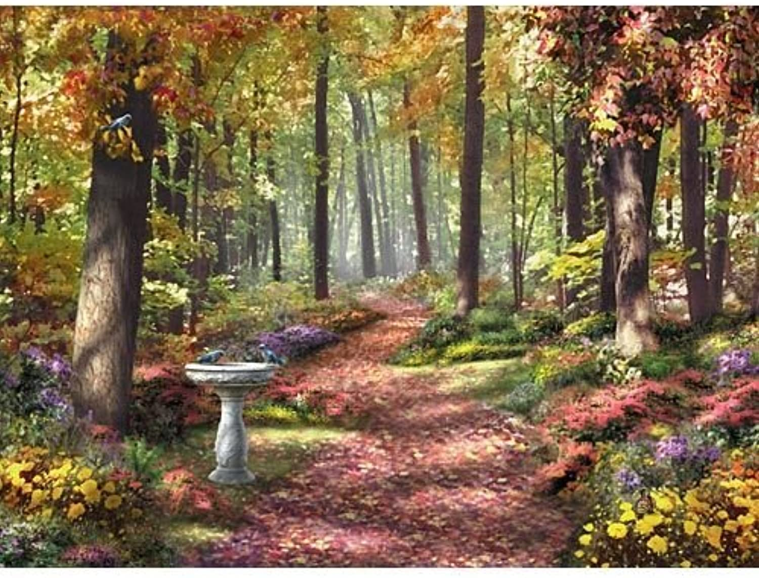 Bits and Pieces - 1000 Piece Jigsaw Puzzle - The Path In the Forest, Autumn Nature - by Artist Alan Giana - 1000 pc Jigsaw