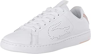Lacoste Women's Carnaby EVO Light-WT 119 3 Fashion Shoes, WHT/LT PNK