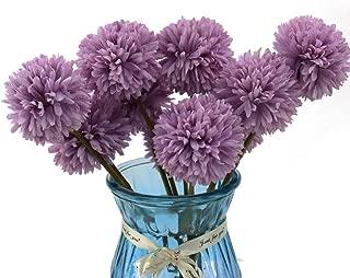 Meetu DIY Flores Artificiales, 10 Piezas de Flores Falsas Multicolores de plástico de Seda Artificial crisantemo Bola decoración de hortensias para Ramo de Novia