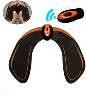 Hips Trainer, OOOUSE Buttocks Massager Electrical Body Beauty Massager and Intelligent Butt Toner Helps to Lift with Remote Control for Women Buttocks Lifting Shape and Firm (Black)