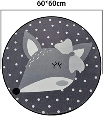 Cartoon Animal Rugs Living Room Sofa Round Floor Mat Children's Bedroom Decoration Carpet 60-180Cm,4,60 * 60cm