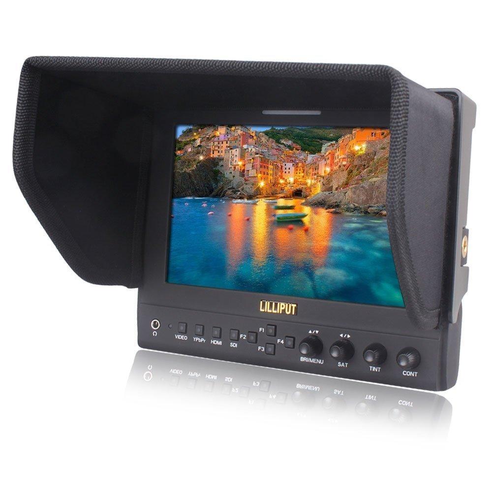 キヤノン500 D 600 D 1100 D 60 D 5 D IIソニーのカメラVIVITEQのようなDV DSLRカメラのためのLILLIPUT 663 / O / P / S2(663 / S2)3G-SDIイン/アウトHMDI出力7