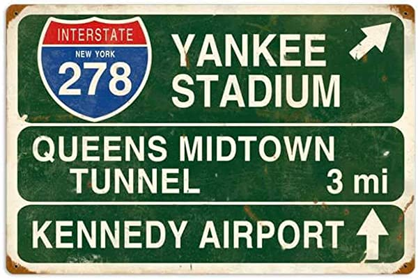 KPSheng Yankee Stadium Vintage Retro Rustic Metal Tin Sign Pub Store Wall Deco Art 12 X 8 Inches