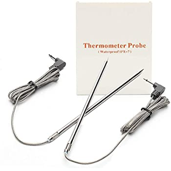 Waterproof Thermometer Hybrid Probe Replacement for Maverick ET-732/733 -Also fits Ivation IVA-WLTHERM IVAWT738 (Set of 2)